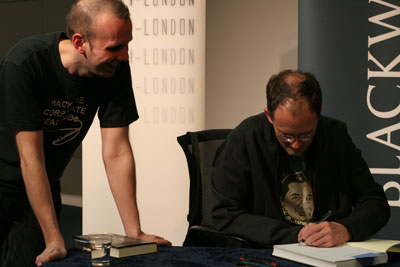 William Gibson signing Mata's thesis